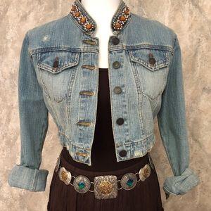XXI Cropped Denim Jacket Size M
